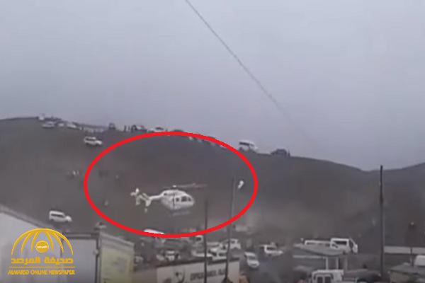 شاهد.. طائرة هليكوبتر  تترنح في الجو  وعلى متنها رئيس دولة بوليفيا !