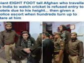 شاهد .. أفغاني عملاق يثير أزمة في الهند !
