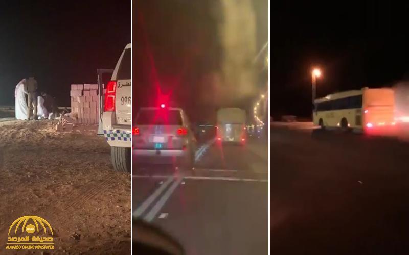 شاهد: مطاردة مثيرة لسائق باص مدرسي «متهور» في حائل .. تنتهي بالقبض عليه