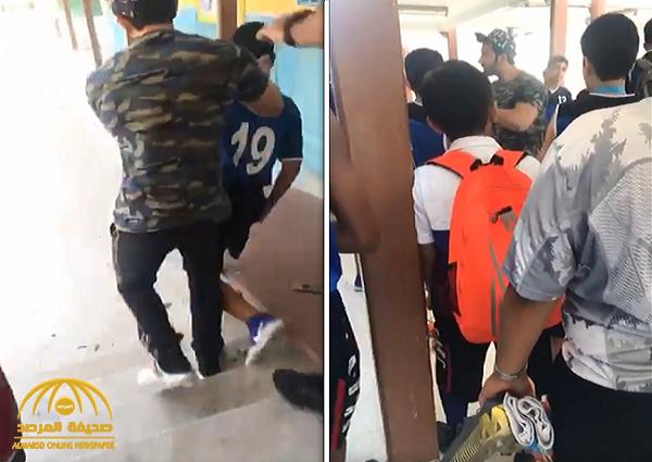 منو الحمار…شاهد:معلم يعتدي على طالب بوحشية يثير غضبا واسعا في الكويت !
