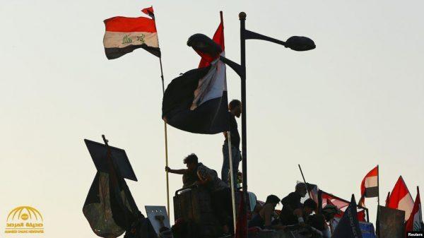 شاهد: لحظة مقتل متظاهر عراقي برصاص القوات مكافحة الشغب وسط بغداد