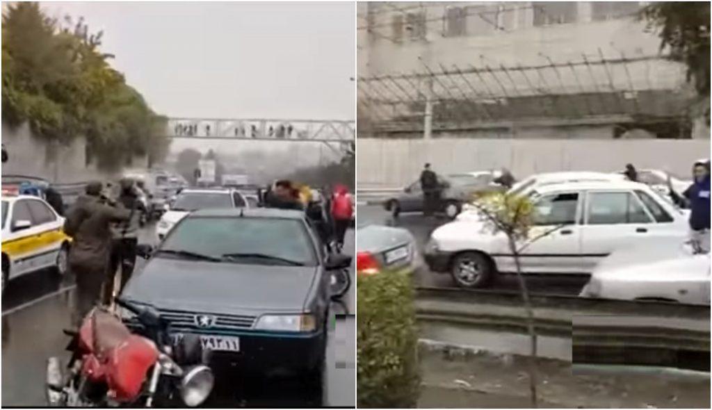الأزمة تتصاعد.. شاهد: إيرانيون يغلقون الطرق الرئيسية بعدما عطلوا محركات سياراتهم بسبب غلاء البنزين