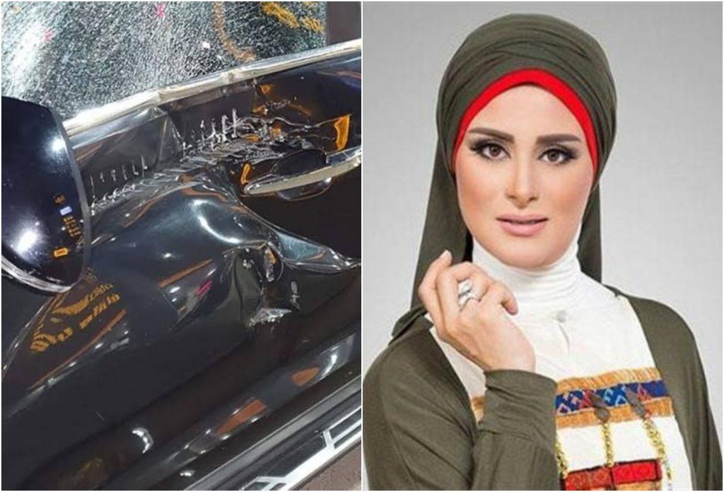 """شاهد بالصور: مذيعة مصرية تتعرض لحادث سير : """"شفت الموت بعنيا """""""