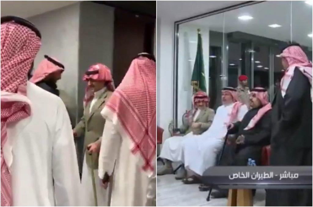 """عدد من الأمراء في استقبال """"الهلال"""" بمطار الملك خالد"""