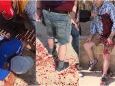 شاهد: طعن 5 أشخاص بينهم نساء سياح في مدينة جرش الأردنية