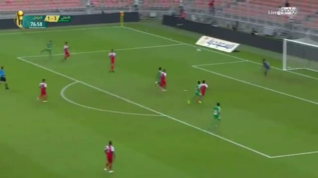 بالفيديو: الأهلي يكتسح الجندل بأربعة أهداف في بطولة كأس الملك