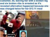 """شاهد: مشاجرة عنيفة بين موظفي مطعم """"بوبايز"""" والزبائن .. وأحد العاملين يرتكب جرمًا فاحشًا!"""