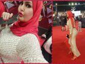 """شاهد: """"حجاب وفستان مثير"""" … إطلالة صادمة للراقصة سما المصري في مهرجان القاهرة السينمائي"""