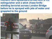 شاهد مقطع جديد لحظة القبض على الإرهابي منفذ هجوم الطعن في لندن قبل مقتله.. والكشف عن هويته