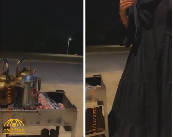 بالفيديو: طالبة طب تبيع الشاي على الطريق تروي قصتها والدافع وراء عملها