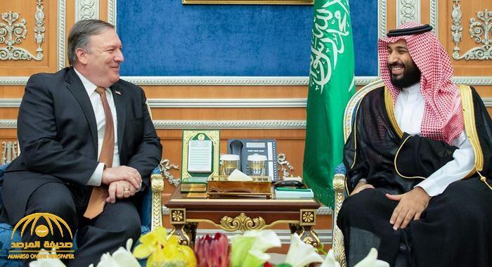 ولي العهد يتلقى اتصالاً هاتفياً من وزير الخارجية الأمريكي