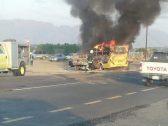 شاهد: اشتعال النيران في حافلة تقل طالبات مدرسة بمحايل.. والكشف عن مصيرهن!