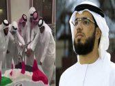 شاهد : قطريون يقطعون كعكة على شكل الإمارات تحت أعلام قطر .. ووسيم يوسف يعلق !