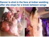 """شاهد : لحظة إطلاق النار على """"راقصة"""" في  حفل زفاف بالهند"""