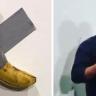 بالفيديو … بعد بيعها ب120 ألف دولار … فنان أمريكي جائع يصدم زوار المعرض  ويأكل الموزة المعلقة على الجدار!
