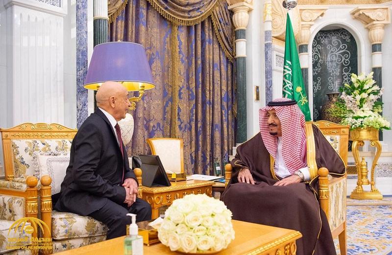 بالصور .. خادم الحرمين يستقبل رئيس مجلس النواب الليبي