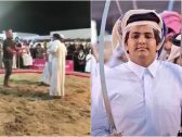 """شاهد : الشيخ """"القعقاع"""" نجل أمير قطر السابق يعتدي على مصارعٍ بعدما رفعه الأخير  في الهواء وأسقطه على الأرض"""