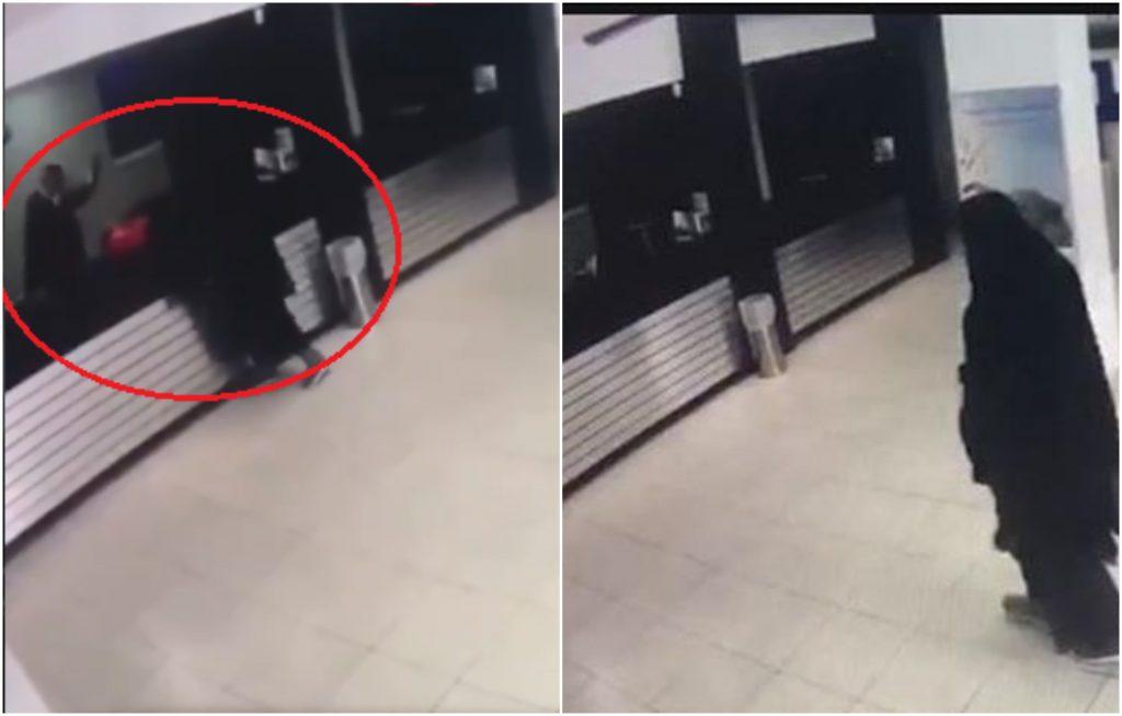 تنكرا بالعباءة والنقاب.. شاهد : سطو مسلح على بنك في الأردن انتهى بمفاجأة غير سارة!