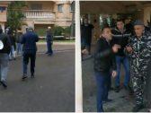 شاهد : حرس وزير الاتصالات اللبناني يعتدي على المتظاهرين أمام منزله