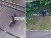 شاهد : نهاية مروعة لـ3 لصوص سرقوا شاباً في الأرجنتين