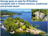 شاهد: قصر على جزيرة خاصة في نيويورك  للبيع مقابل 15  مليون دولار – صور و فيديو