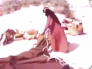 """شاهد: فيديو نادر لامرأة """"بدوية"""" تشيد """"بيت الشعر"""" وسط الصحراء"""