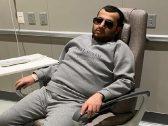 """شاهد .. أحدث صورة لـ""""تركي آل الشيخ"""" على كرسي طبي"""
