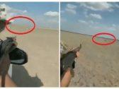 """شاهد … مقطع صادم لشخص يصطاد الغزلان بسلاح رشاش داخل إحدى المحميات  بـ""""المملكة"""""""
