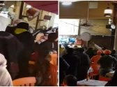 شاهد : مشاجرة جماعية  في سوق المباركية بالكويت