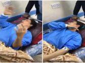 """شاهد … سيدة عراقية  تحت تأثير بنج عملية جراحية  تردد  """"صدام اسمك هز أمريكا """" وتشعل مواقع التواصل !"""