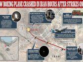 شاهد.. لحظة سقوط الطائرة الأوكرانية..  هل أصابتها  صواريخ إيران ؟