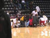 بالفيديو :  إطلاق نار على لاعب  أثناء  مباراة كرة السلة في ولاية تكساس الأمريكية