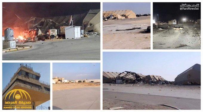 شاهد: أول صور من داخل قاعدة عين الأسد في العراق بعد الضربة الإيرانية