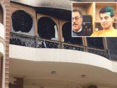 شاهد : احتراق  منزل الفنان إيهاب توفيق ووفاة والده