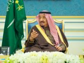 بالصور : خادم الحرمين يستقبل مفتي المملكة وعدداً من الأمراء والعلماء وجمعاً من المواطنين