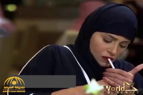 """شاهد… الفنانة  السعودية"""" إلهام علي""""  بالحجاب تواجه انتقادات بعد مشهد تدخين السجائر  ومواعدة  شاب  في مكان عام !"""