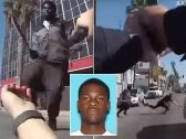 شاهد : شرطي أمريكي يقتل شاب أسود حاول طعنه بالسكين في  لوس أنجلوس