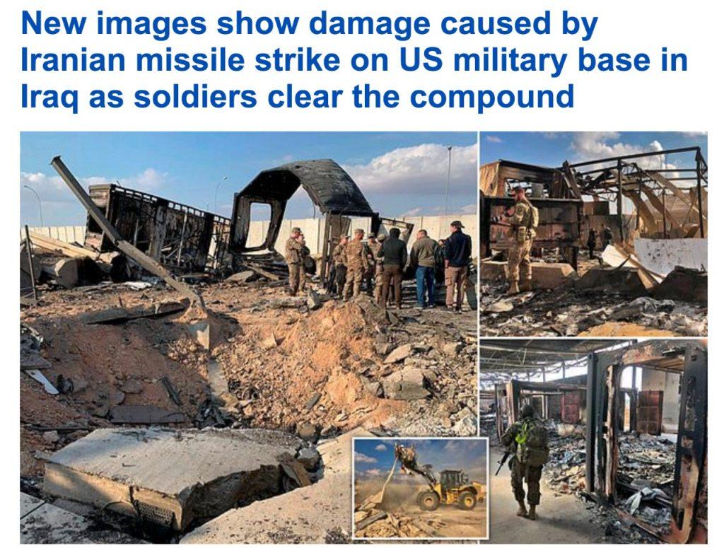 شاهد .. صور جديدة من قاعدة عين الأسد في العراق بعد قصف إيران لها بالصواريخ  الباليستية