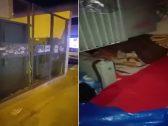 شاهد .. امرأة وأطفالها ينامون داخل  غرفة كهرباء بالرياض