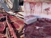 شاهد .. آثار الدماء والدمار داخل المسجد الذي استهدفته المليشيات الحوثية في مأرب