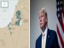 """شاهد .. ترامب ينشر خريطة """"صفقة القرن """".. ويغرد بالعربي : هذا ما قد تبدو عليه دولة فلسطين المستقبلية!"""