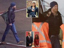 """بعد تجريده من الصفة الملكية  … بالصور : شاهد .. الأمير  """"هاري"""" يظهر بهيئة غريبة ويصل كندا في طائرة عامة !"""