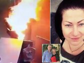 """شاهد : فيديو صادم لحارس أمن يحول عشيقته لـ """"كرة من النار"""" بعدما فاجئته بهذا القرار !"""