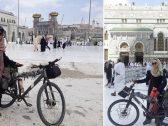 لأول مرة .. شاهد فتاة تونسية تصل المملكة لأداء العمرة على دراجة وتكشف تفاصيل رحلة الـ 53 يوم !