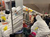 "شاهد .. شابان يروعان ركاب مترو في نيويورك بمقلب ""فيروس كورونا"" !"