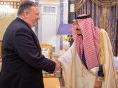 بالصور .. خادم الحرمين يستقبل وزير الخارجية الأمريكي
