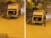 شاهد:عمال يسرقون حديد إنشاءات بسيارة البلدية