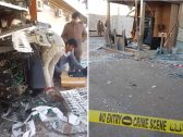 شاهد : تفجير صرّاف بالغاز في حي السلي بالرياض وسرقة أكثر من مليون ريال
