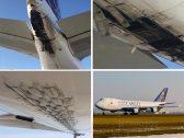 """شاهد بالصور : طائرة شحن لـ""""الخطوط السعودية"""" تتعرض لأضرار بهيكلها وتهبط إضطراريا في جدة !"""