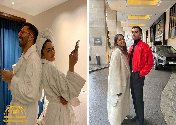 """شاهد : عارضة الأزياء السعودية  """"ريم الصانع"""" تظهر في صورة """"غير اعتيادية"""" برفقة صديقها"""